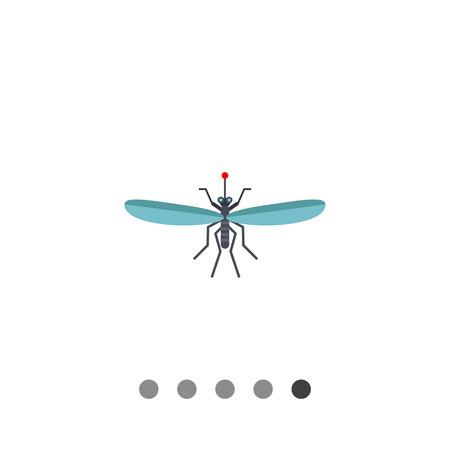 poco: Multicolor ofmosquito icono del vector y la gota de sangre, la vista superior