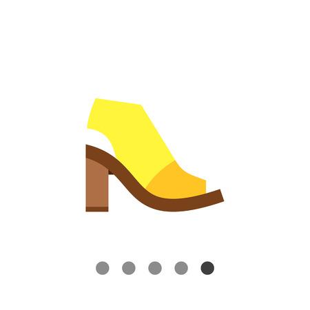footwear: Mule Shoe. Woman, modern, high. Summer footwear concept. Can be used for topics like footwear, marketing, fashion.