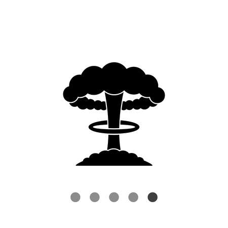 mushroom cloud: Mushroom cloud. Terror, danger, radiation. Nuclear explosion concept. Can be used for topics like weapon, war, violence.