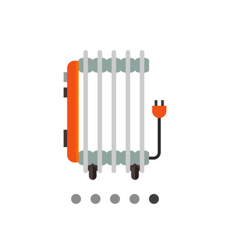 Bunte Vektor-Symbol von Öl elektrische Heizung