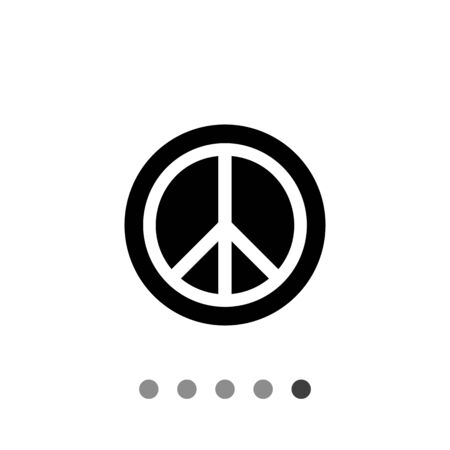 pacific: Monochrome vector simple icon of pacific sign