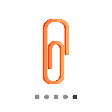 topics: Paper clip. Office, metal, tool. Clip concept. Can be used for topics like stationery, business, marketing.