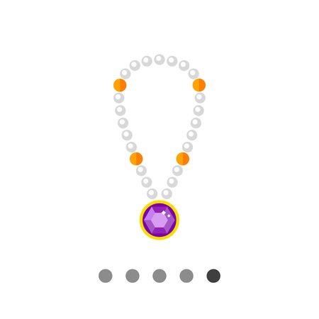 pearl necklace: Pearl necklace with pendant. Beautiful, expensive, accessory. Jewelry concept. Can be used for topics like jewelry, luxury, fashion.