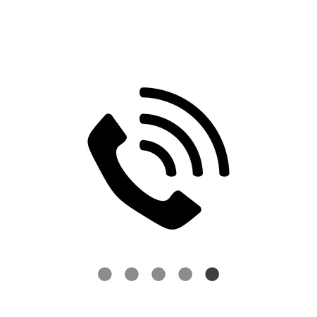 receiver: Monochrome vector icon of vintage telephone receiver