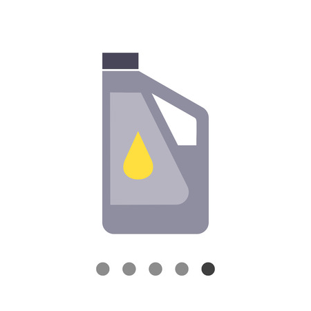 tare: Icon of plastic bottle of engine oil with oil drop picture on label Illustration