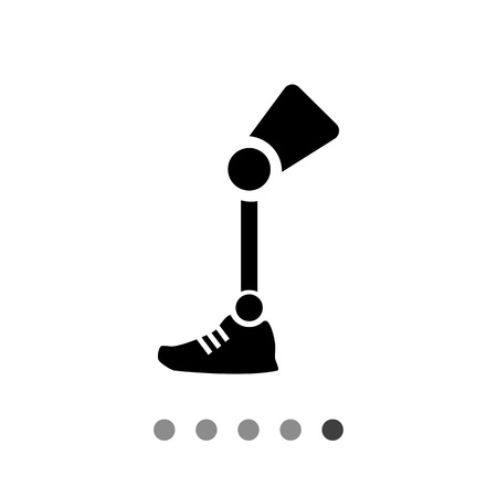 prosthetic: Prosthesis vector icon. Simple illustration of prosthetic leg Illustration
