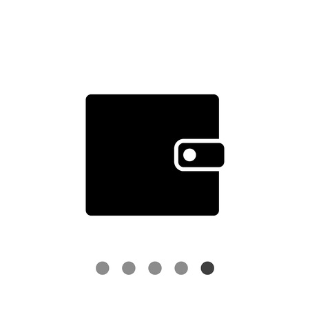 snap: Monochrome vector icon of man purse with snap
