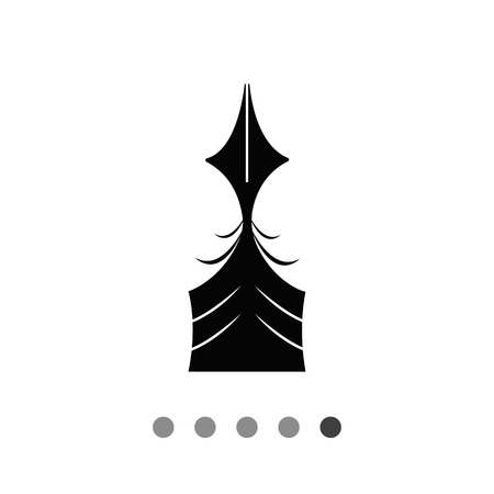 Vector icon of quill pen upper part Illustration
