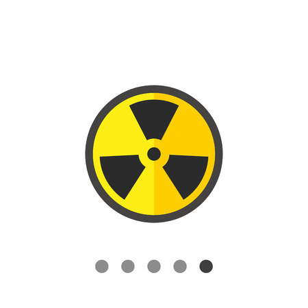 Multicolored vector icon of black and yellow international radiation hazard symbol Illustration