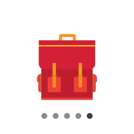 satchel: Red schoolbag icon