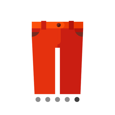 red shorts: Multicolored vector icon of red shorts with button