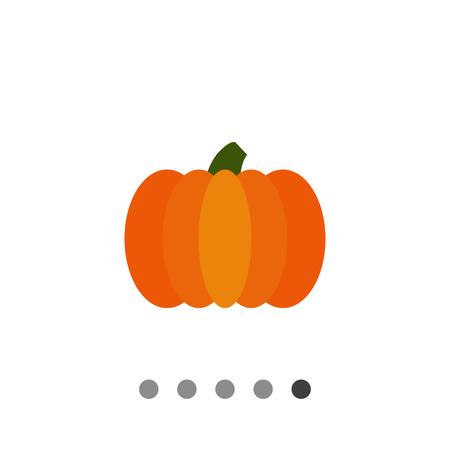 ripe: Vector icon of fresh ripe orange pumpkin