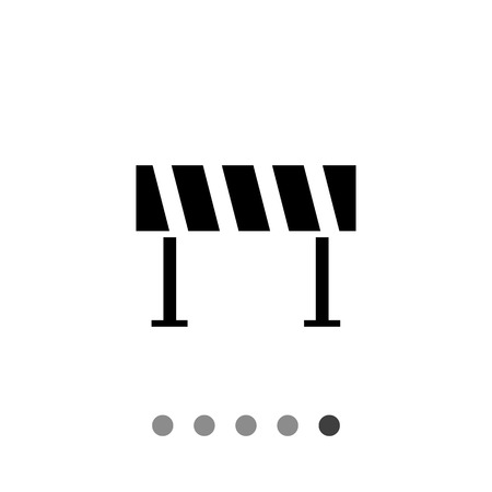 barrier: Road barrier icon