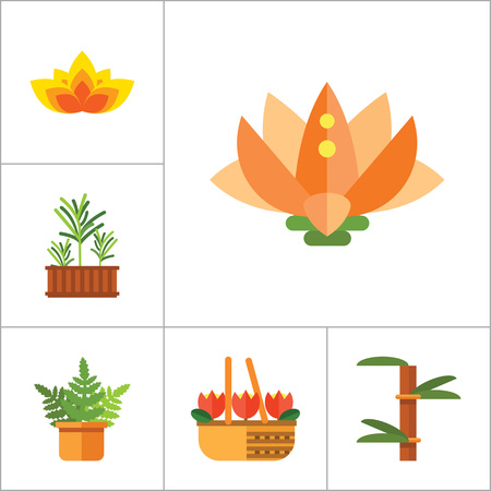 hand holding flower: Plant Icon Set. Basket With Flowers Wheat Ears Watering Plant In Flowerpot Flowers In Pot Tulips In Basket Tulip Lotus Exotic Flower Hand Holding Plant Boston Fern Rosemary Bamboo