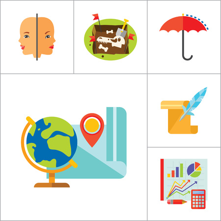 cartography: Science Type Icon Set. Archeology Astronomy Cartography Engineering Geography Geology Meteorology Paleontology Statistics Geometry Anatomy History Psychology