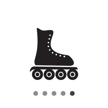 roller blade: Roller blade simple icon. Black vector illustration of shoe for rollerblading