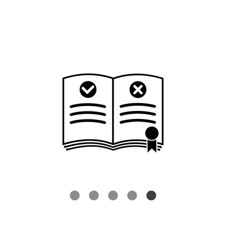 business administration: Rulebook with bookmark. Rules, regulation, guideline, instructions. Rules concept. Can be used for topics like gamification, management, administration, business Illustration