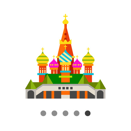 basil: Multicolored vector icon of Saint Basil Cathedral