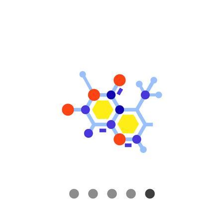 Multicolored vector icon of molecular structure representing science concept Illustration