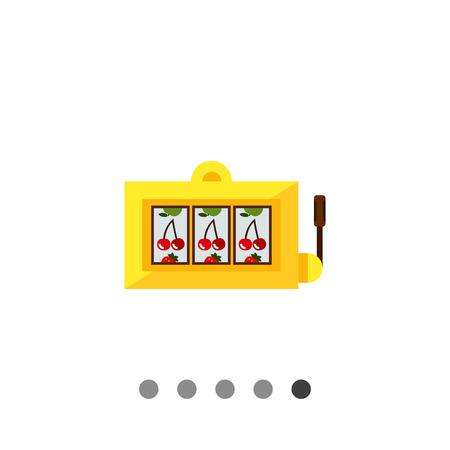 jackpot: Multicolored vector icon of slot machine showing jackpot combination Illustration