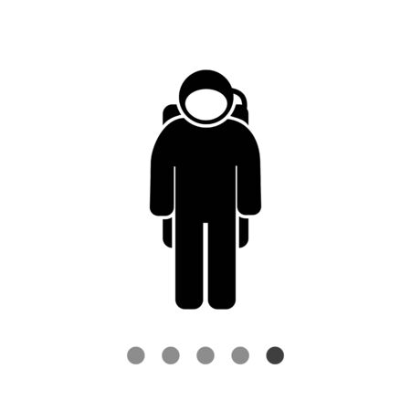 spacesuit: Spaceman wearing spacesuit. Space, orbit, weightlessness. Spaceman concept. Can be used for topics like cosmonautics, technology, science.