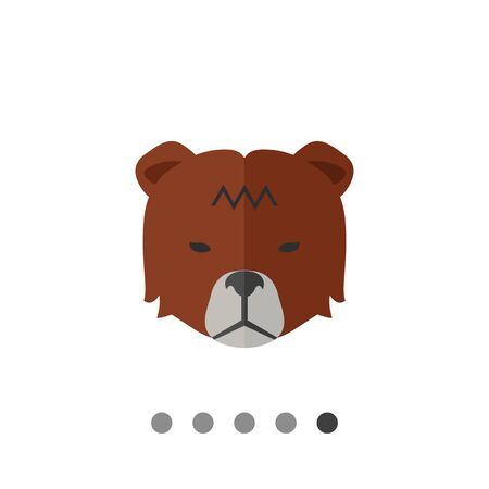 Icon of bears head as stock market trend Illustration