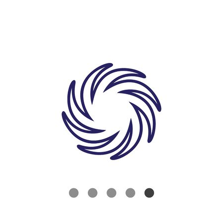 predicting: Icon of sun with swirl beams