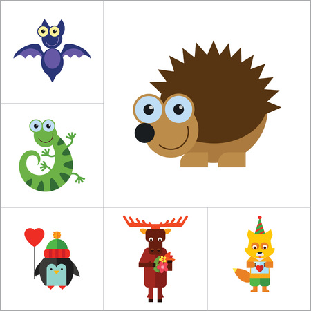 head scarf: Funny Animals Icon Set. Monkey Face Funny Bee Bat Octopus Snail Penguin With Heart Balloon Penguin With Camera Funny Lizard Cartoon Hedgehog Cute Fox Moose With Flowers Penguin Beaver With Twig