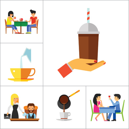 cigar smoking woman: People And Coffee Icon Set. Hand With Coffee Takeaway Coffee Cup Rich Person Director Dinner Coffee On Napkin Coffee And Hands Pouring Milk Press Coffee Pot Waitress Drinking Coffee Pouring Coffee