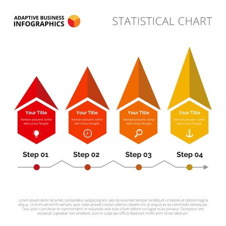 the topics: Four steps diagram. Element of graph, presentation, process chart. Creative concept for infographics, templates, reports. Can be used for topics like marketing analysis, business data, strategy