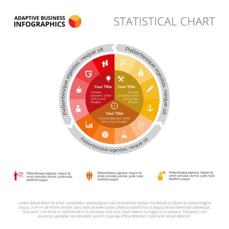Wykres kołowy. Dane biznesowe. Element złożonego wykresu kołowego, prezentacji, diagramu. Koncepcja infografiki, szablonów biznesowych, raportów. Może być używany do takich tematów jak analiza, postępy, statystyki
