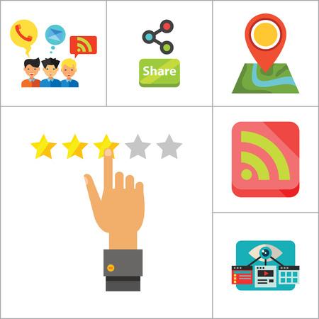 i label: Social Media Icon Set. Quality Label Question Bubble Social Media Blogging Plus Sign Content Management Copywriting I Love Social Media Share Rating Internet Chatting Visual Optimization