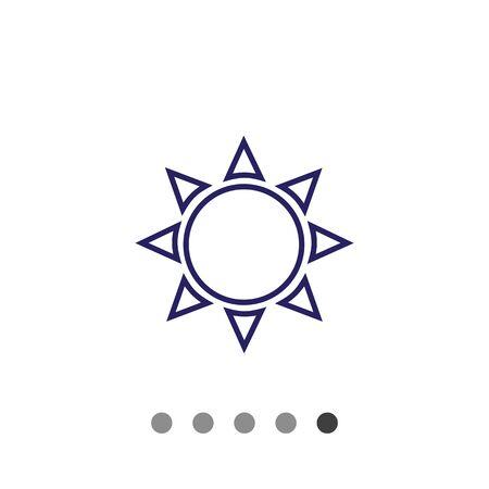 predicting: Icon of sun with beams Illustration