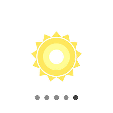 prediction: Icon of sun with beams Illustration