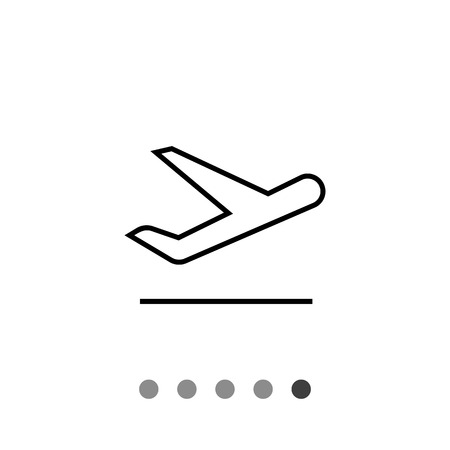 taking off: Icon of taking off airplane