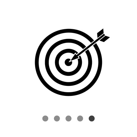 Vector icon of target with arrow representing targeting concept Illustration