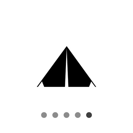 recess: Monochrome vector simple icon of triangle camp tent Illustration