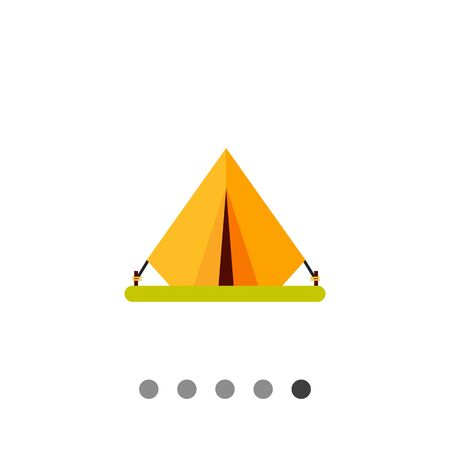 Tent icon. Multicolored vector illustration of portable tent Illustration