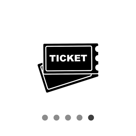 pierced: Monochrome vector icon of two paper tickets with pierced edge Illustration