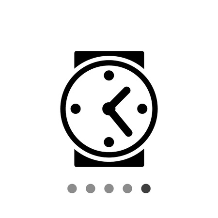 period: Watch. Timing, time management, period. Timing concept. Can be used for topics like business, startup, management Illustration