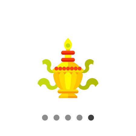 tantra: Multicolored vector icon of ritual Treasure Vase Illustration
