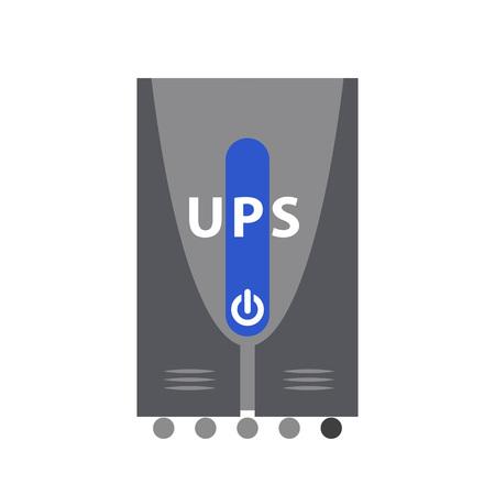 Icono de la fuente de alimentación ininterrumpida Ilustración de vector