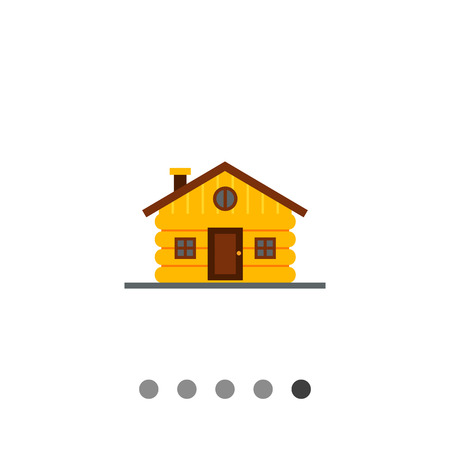 wood log: Wood log house. Natural, home, shelter. House concept. Can be used for topics like construction, business, architecture, real estate. Illustration