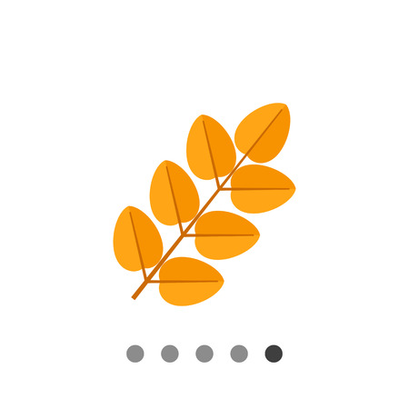 Multicolored vector icon of yellow leaf Illustration