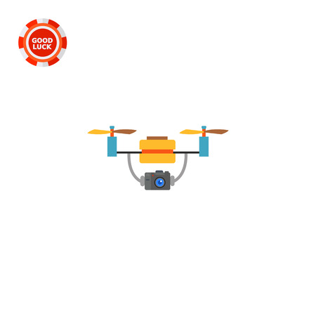 espionage: Aerial drone with camera. Surveillance, innovation, mobility. Drone concept. Can be used for topics like technology, aircraft, espionage, electronics.