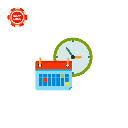 Calendar and clock. Learning, knowledge, schedule. Back to school concept. Can be used for topics like school, teaching, education. Illustration