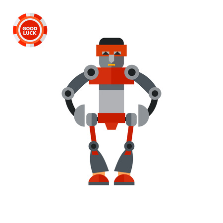 humanoid: Big humanoid robot. Funny, futuristic, intelligence. Robot concept. Can be used for topics like technology, electronics, mechanics.