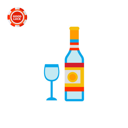 corked: Corked bottle of vodka and glass. Restaurant, alcohol, toast. Vodka concept. Can be used for topics like Russia, spirits, holidays. Illustration