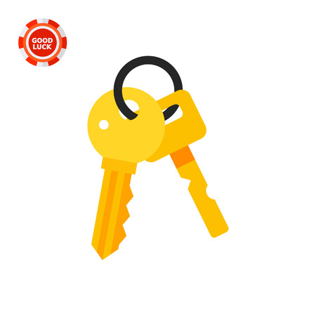 locksmith: Bunch of two keys. Protection, locking, house. Key concept. Can be used for topics like finance, technology, business.