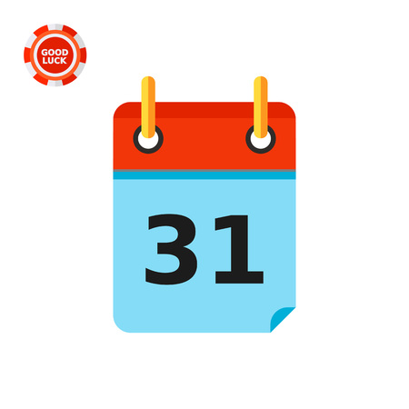 looseleaf: Calendar page with date thirty first. Deadline, event, last. Calendar concept. Can be used for topics like planning, business, management.